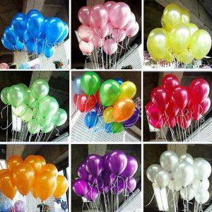 Metalik Renk Uçan Balonlar